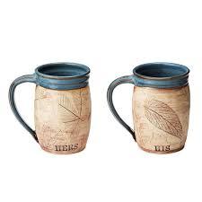 His And Her Mug His Or Her Woodland Mug Pottery Mugs Uncommongoods