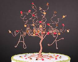 fall wedding cake toppers autumn cake topper etsy