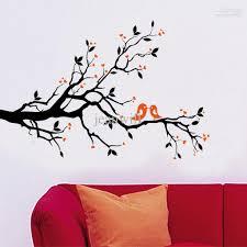 Tree Wall Art Decals Vinyl Sticker Removable Birds Branch Tree Wall Stickers Home Art Decals Diy