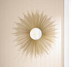 wholesale super celestial sun wall mirror retro style golden rays