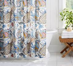 The Warehouse Curtain Sale Merion Palampore Shower Curtain Pottery Barn