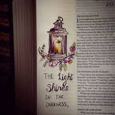light in the darkness verse john 15 5 bible journal bible journaling faith art pinterest