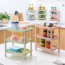 Corner Shelf Desk Aliexpress Com Buy Diy 3 Layers Plastic Desk Storage Rack Makeup