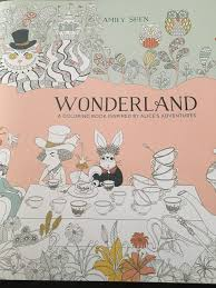 book hooked blog coloring book review wonderland by amy shen