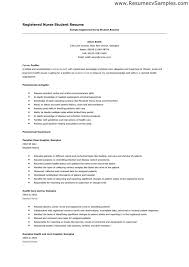 Nurses Resume Templates Student Nurse Resume Template Entry Level Nursing Student Resume