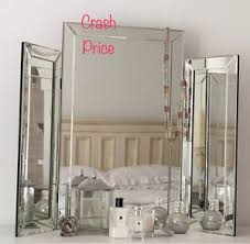 glass vanity table with mirror glass triple dressing table mirror contemporary and stylish uk