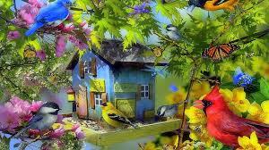 bird creative pre flowers butterflies gardening spring birds