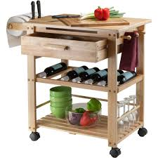 Finland Kitchen Cart Natural Walmartcom - Kitchen cart table