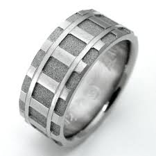 denver wedding band denver titanium ring with tracks titanium wedding rings