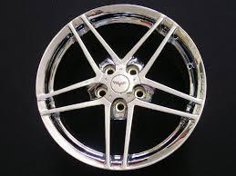 chrome corvette wheels c6 z06 style chrome wheels