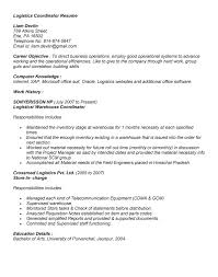 Supply Chain Coordinator Resume Sample by Logistics Resume Supply Chain U0026 Logistics Resume 3 21 2013