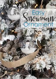 diy snowman ornament blooming homestead