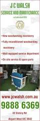 Second Hand Woodworking Machinery Perth by J C Walsh Service U0026 Maintenance Woodworking Machinery 32
