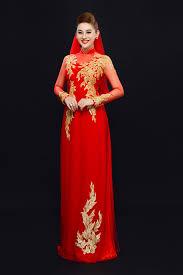 ao dai cuoi dep 10 mẫu áo dài cưới đỏ đẹp lộng lẫy 2016 cho cô dâu chuẩn bị cưới