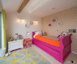 assorted colors wallpaper design in a bright childrens room with