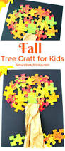 how to make a lovely fall tree craft easy puzzle tree puzzle