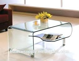 Clear Coffee Table Brilliant 20 Clear Coffee Table Solutions Made From Glass And