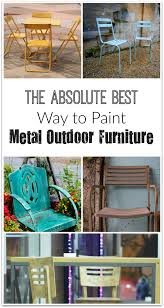 best way paint metal outdoor furniture metal furniture