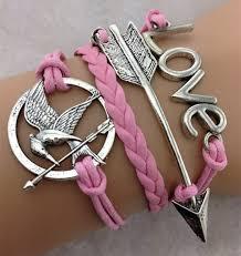 bracelet love ebay images Bird arrow love vogue hand knitted pink leather charm bracelet hot jpg