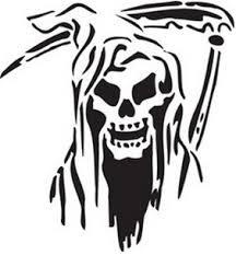 grim reaper reusable stencil dons hobby shop