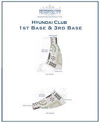 Citi Field Map Citi Field Event Spaces Hyundai Club 1b U0026 3b New York Mets
