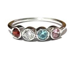 birthstone rings for mothers mothers ring etsy