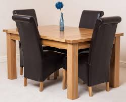 seattle dining set with 4 brown chairs oak furniture king