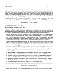 Accounting Sample Resume by Accountant Sample Resume Free Resume Example And Writing Download
