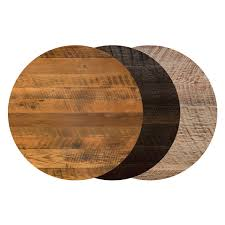 reclaimed wood restaurant table tops awesome 36 round reclaimed barn wood restaurant table top bar for