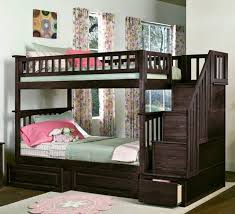 Twin Over Full Bunk Bed With Stairs Bunk Beds White Wood Bunk Beds Twin Over Twin Solid Wood Bunk