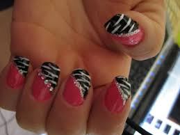 halloween designs nail pink and black zebra nail design blue
