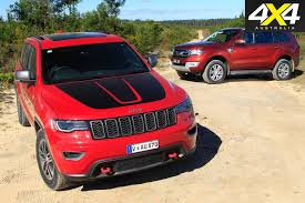 jeep grand cherokee 2017 2017 jeep grand cherokee trailhawk vs 2017 ford everest trend