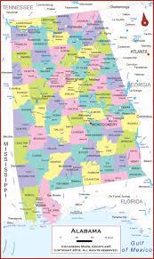 Map Alabama Alabama Wall Map Political