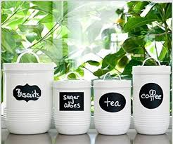 Labels For Kitchen Canisters Amazon Com Native Spring Chalkboard Labels 40 Premium Waterproof