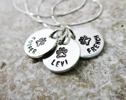 Personalized Cat Necklace Custom Pet Jewelry Etsy