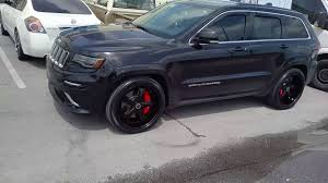 gray jeep grand cherokee with black rims 877 544 8473 22 inch savini sv 29 all black jeep cherokee srt