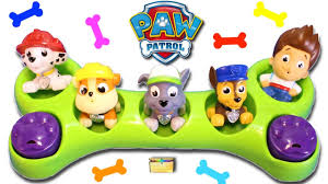 paw patrol tracker dog bone surprise toys u0026 blind bags videos