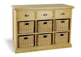 Cabinet Baskets Storage Furniture With Baskets Cottage Oak Sideboard With Basket Storage
