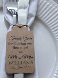 thank you wedding gifts personalised wedding favour gift tag thank you guest label kraft