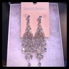 bridal chandelier earrings 55 david s bridal jewelry nwt david s bridal chandelier
