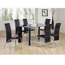 top 20 black glass extending dining tables 6 chairs dining room
