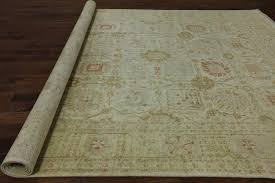 Area Rugs 10 X 14 by 10 U0027x14 U0027 Washed Out Ivory Oushak Style Chobi Hand Knotted Wool Area