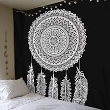 Circle Hanging Bed by Summer Vintage Printing Beach Towel Shawl Tapestry Wall Hanging
