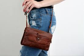 frye melissa leather crossbody bag cognac cross body bags