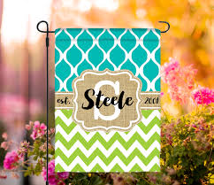 monogrammed spring garden flags home outdoor decoration