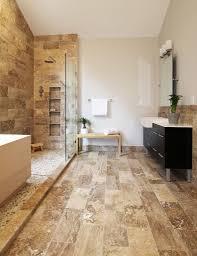 bathroom travertine bathroom with corner shower stall and classic