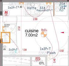 tableau electrique cuisine position de la prise électrique du lave vaisselle sur un plan de