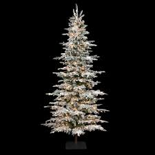 9 foot christmas tree 9 foot slim flocked laser glitter pine tree c 84351