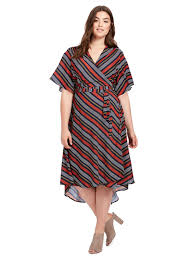 sleeve wrap dress eloquii high low circle sleeve wrap dress gwynnie bee