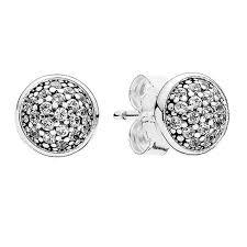 swag earrings pandora dazzling droplets stud earrings designer jewelry at swag